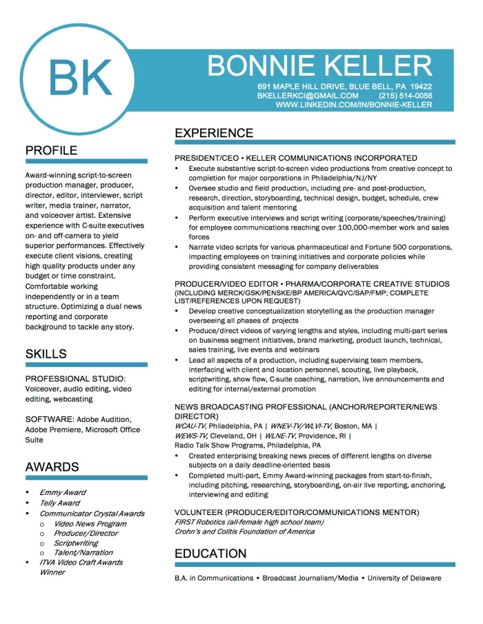 1-BK Professional Resume